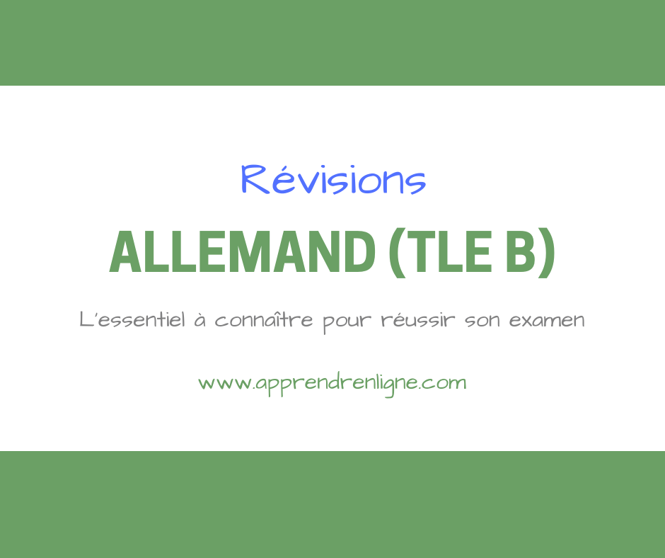 ALLEMAND TLE B