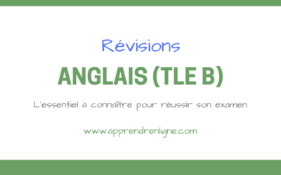 REVISIONS ANGLAIS (TERMINALE B)