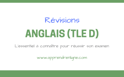 REVISIONS ANGLAIS (TERMINALE D)