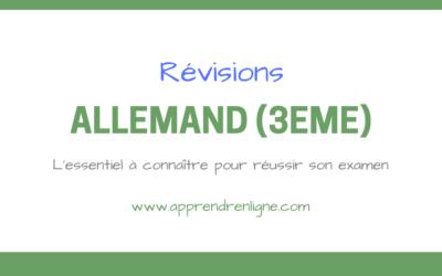 REVISIONS ALLEMAND (TROISIEME)